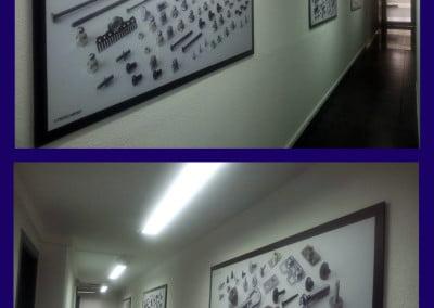 Cuadros impresos sobre vinilo y aplicados sobre pvc para fábrica de Sant Joan Despí
