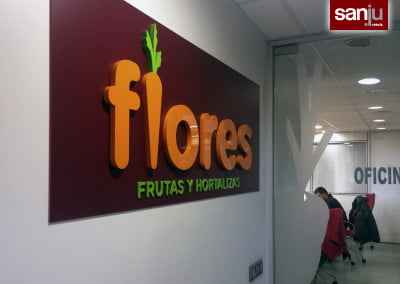 Letras en PVC lacado para decoración interior en El Prat de Llobregat