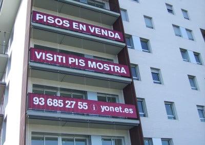 Pancarta Sant Feliu Esplugues Sant Just Barcelona
