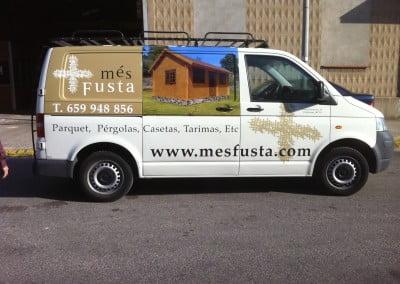 Rotulación de furgoneta para empresa de Viladecans