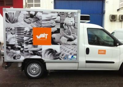 Rotulación en vinilo de camión en Mercabarna Barcelona