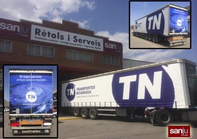 Rotulación y serigrafiado de toldos de camión