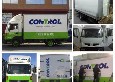 Servicio de plancha y pintura y posterior rotulación de vehículos comerciales o industriales