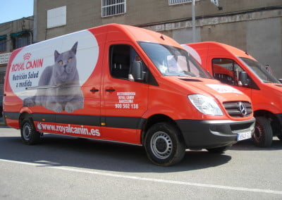 Vinilizado integral para flota de furgonetas en Castelldefels