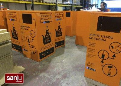 Vinilos de corte para contenedores de aceite