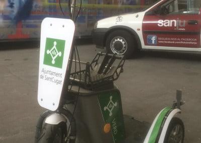 Vinilos para proyecto de triciclos eléctricos en Sant Cugat